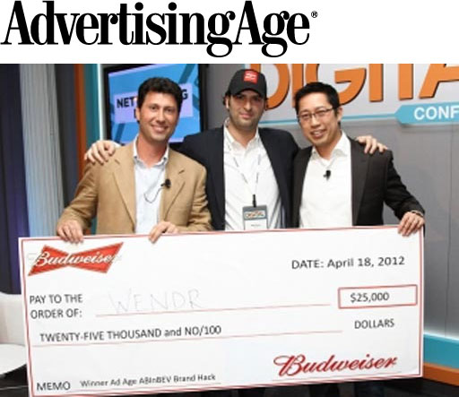 Budweiser Taps Social-Planning Startup Wendr for $25,000 Partnership at Ad Age Digital